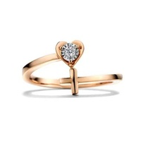 harga Adelle Jewellery Cross Diamond Ring - Cincin Berlian Salib Wanita - Rose Gold [Preorder 35hari] Blibli.com