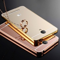 harga Case Xiaomi Redmi Note 2 Prime Bumper Metal + Back Case Sliding - Rose Gold Blanja.com