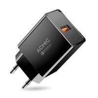 ACMIC CQC01 Quick Charge 3.0 USB Wall Charger - Hitam [Fast Charging]